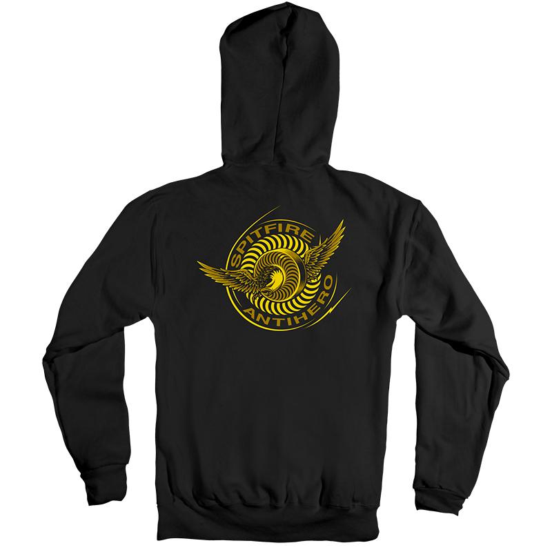 Anti Hero x Spitfire Classic Eagle Hoodie Black