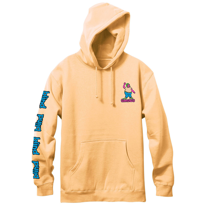 Blind Gonz Colored Portrait Hoodie Peach