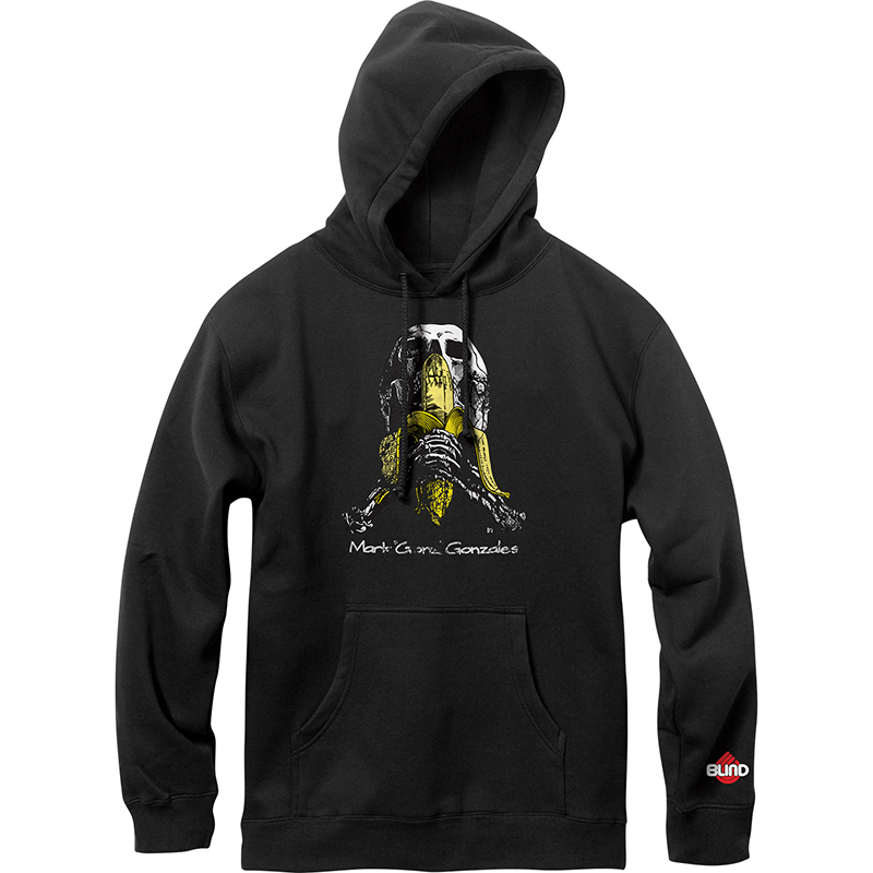 Blind Skull and Banana Hoodie Vintage Black