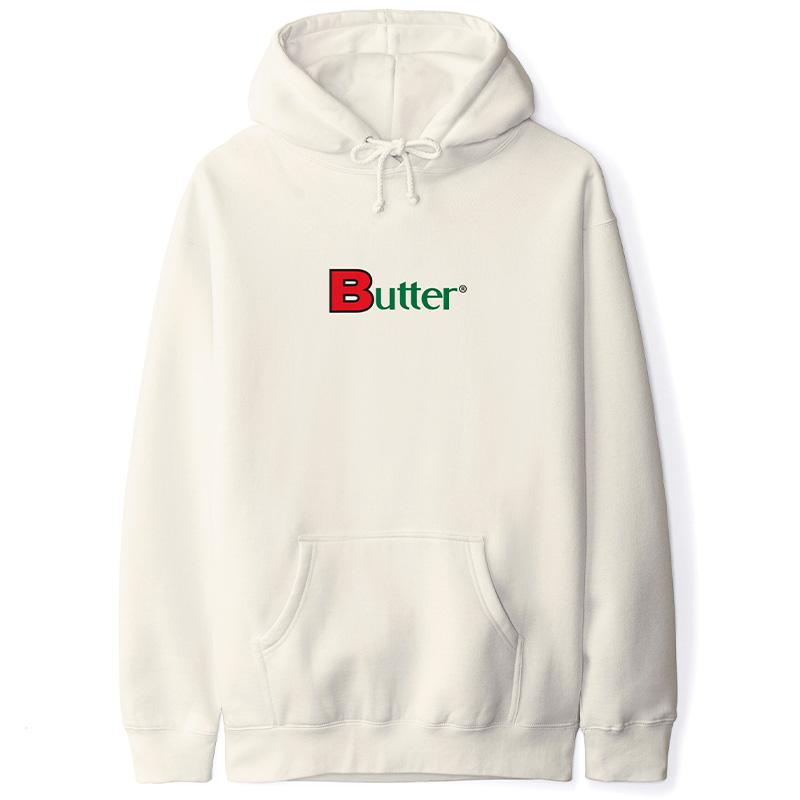 Butter Goods Bold Classic Logo Pullover Hoodie Bone