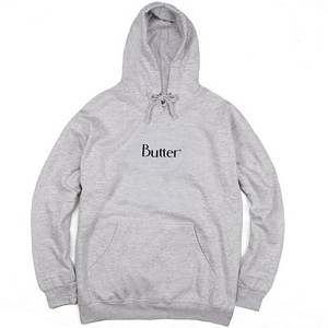 Butter Goods Classic Hooded Sweatshirt Heather Grey
