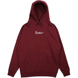 Butter Goods Embroidered Classic Logo Hoodie Burgundy