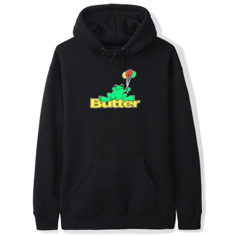 Butter Goods Frog Hoodie Black