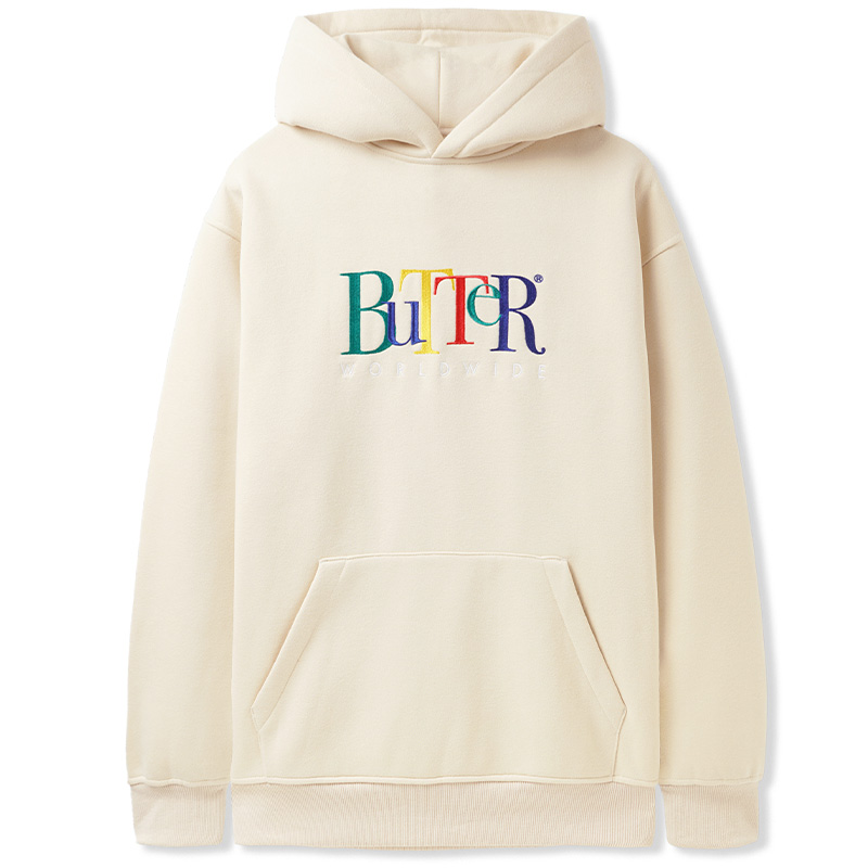 Butter Goods Jumble Embroidered Pullover Hoodie Oatmeal