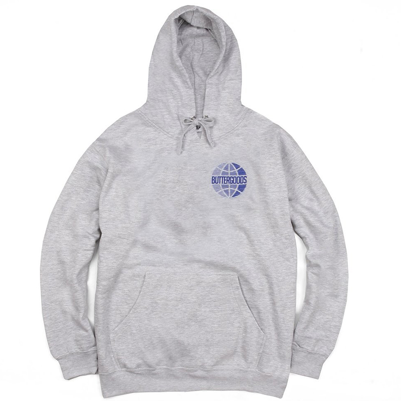 Butter Goods Lateral Worldwide Logo Hoodie Heather Grey