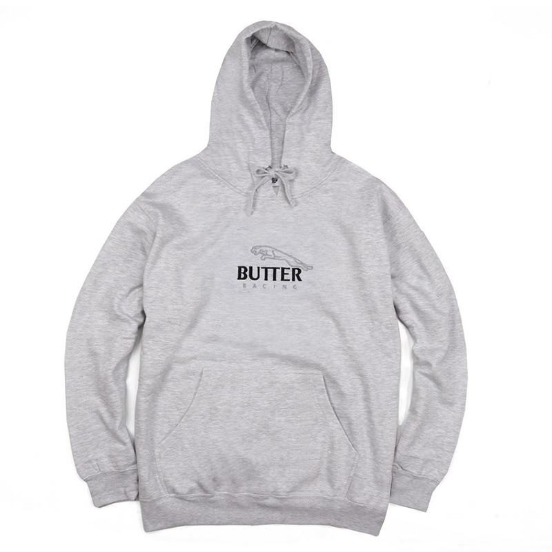 Butter Goods Racing Hooded Sweater Heather Grey