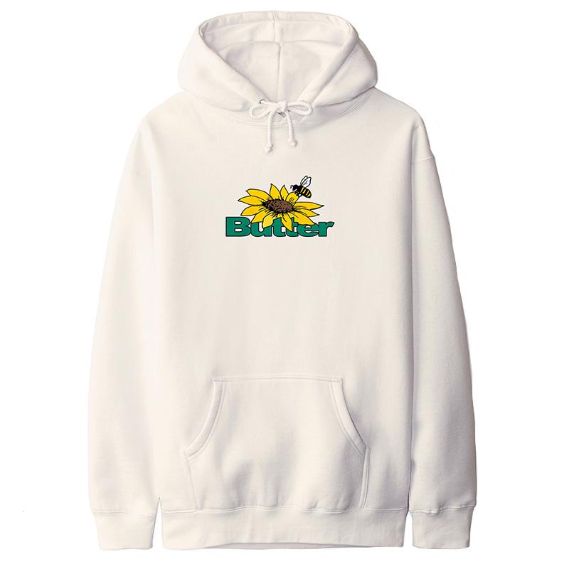 Butter Goods Sunflower Logo Pullover Hoodie Bone