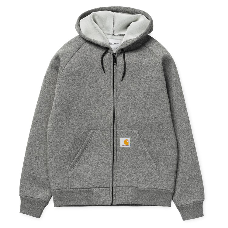 Carhartt Car Lux Hooded Jacket Dark Grey Heather/Grey