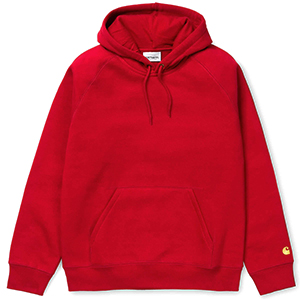 Carhartt Chase Hoodie Blast Red/Gold