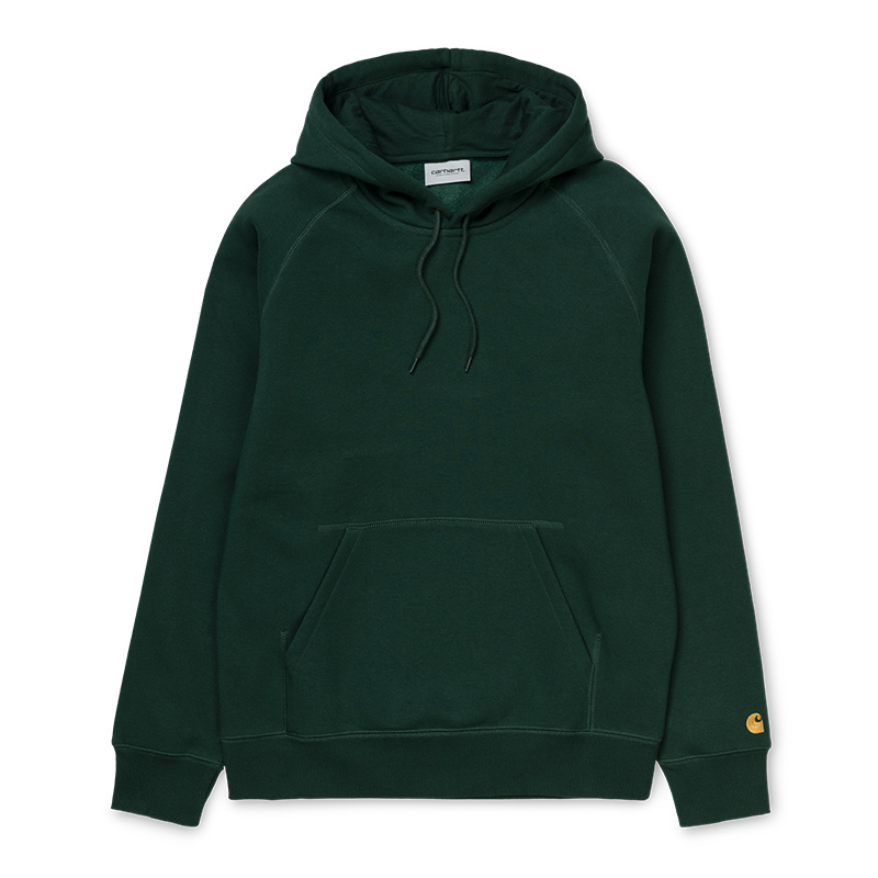 Carhartt Chase Hoodie Bottle Green/Gold