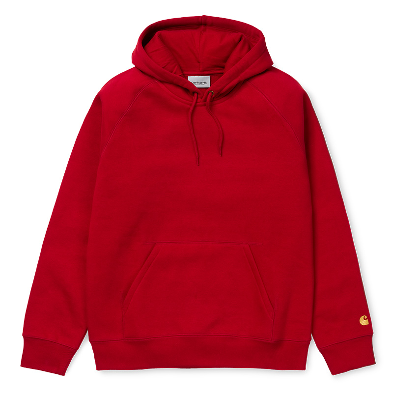Carhartt Chase Hoodie Cardinal/Gold