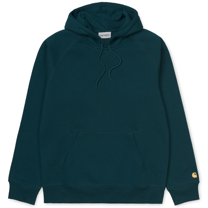 Carhartt Chase Hoodie Duck Blue/Gold