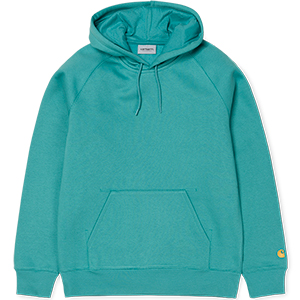 Carhartt Chase Hoodie Soft Teal/Gold