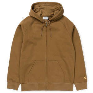 Carhartt Chase Zip Hoodie Hamilton Brown/Gold
