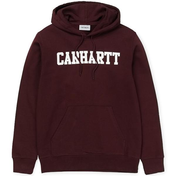 Carhartt College Hoodie Damson/White