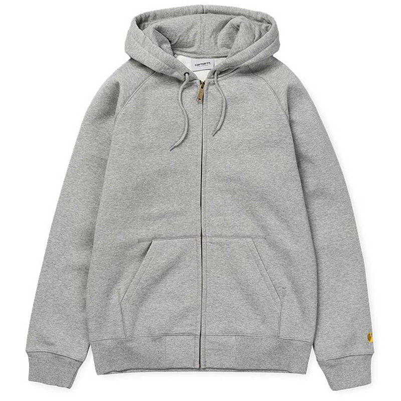 Carhartt Hooded Chase LT Jacket Grey Heather