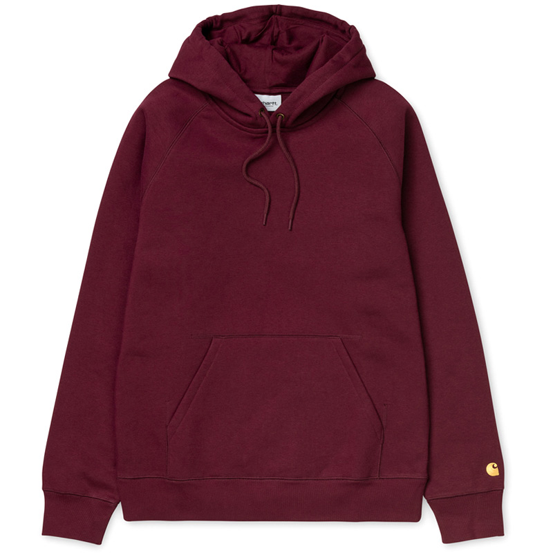 Carhartt WIP Chase Hoodie Bordeaux/Gold