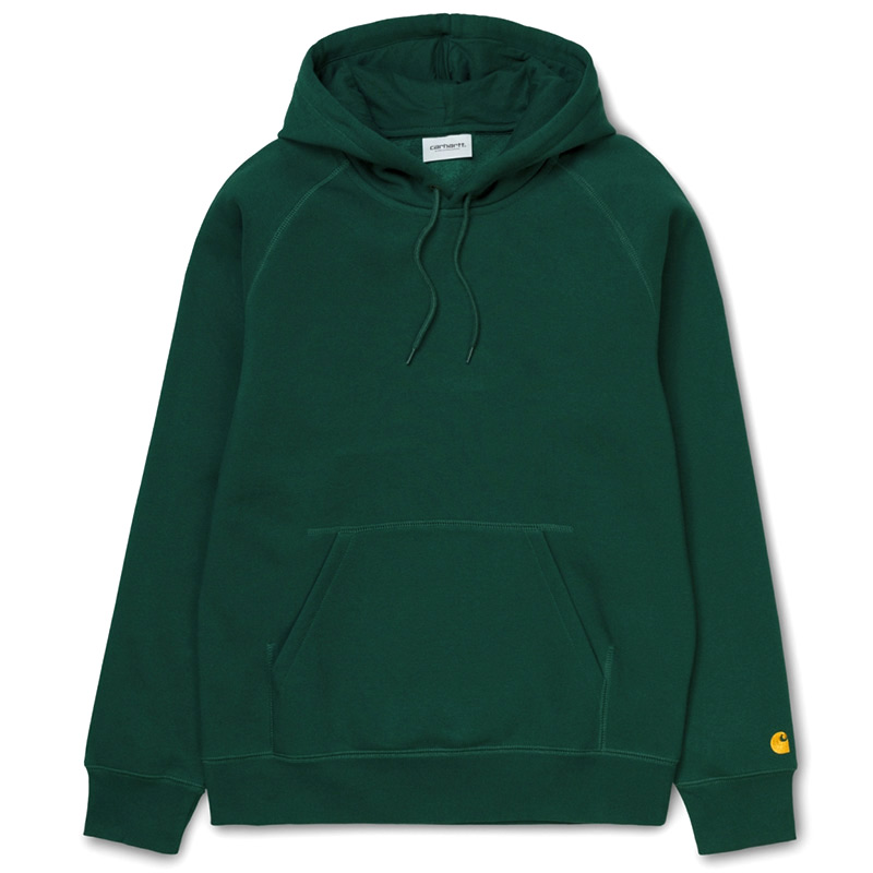 Carhartt WIP Chase Hoodie Treehouse/Gold