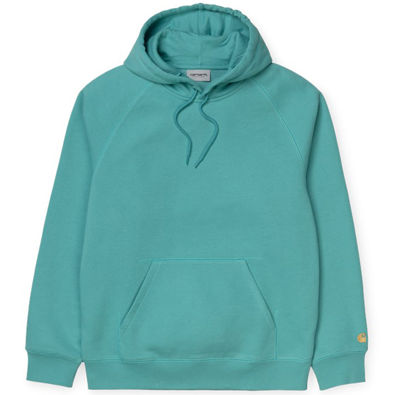Carhartt WIP Chase Hooodie Frosted Turquoise/Gold