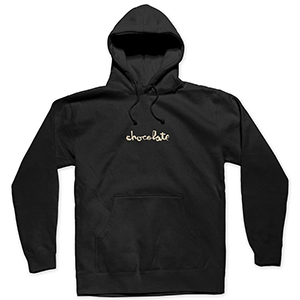 Chocolate Embroidered Mid Chunk Hoodie Black