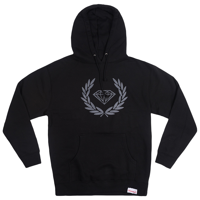 Diamond Brilliant Crest Hoodie Black