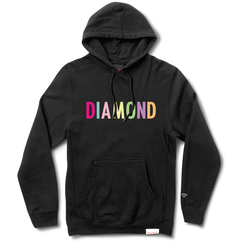 Diamond Colour Pop Hoodie Black