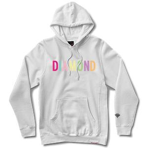 Diamond Colour Pop Hoodie White