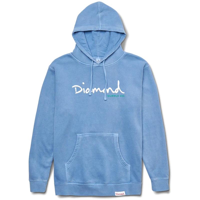 Diamond OG Script Overdyed Hoodie Blue
