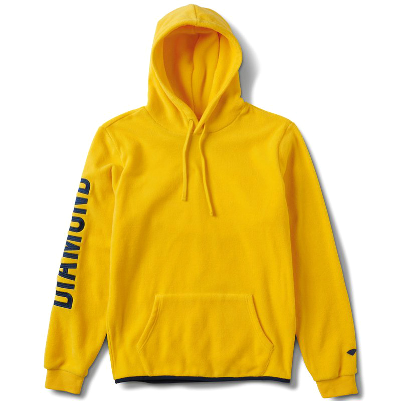 Diamond Polar Fleece Hoodie Yellow