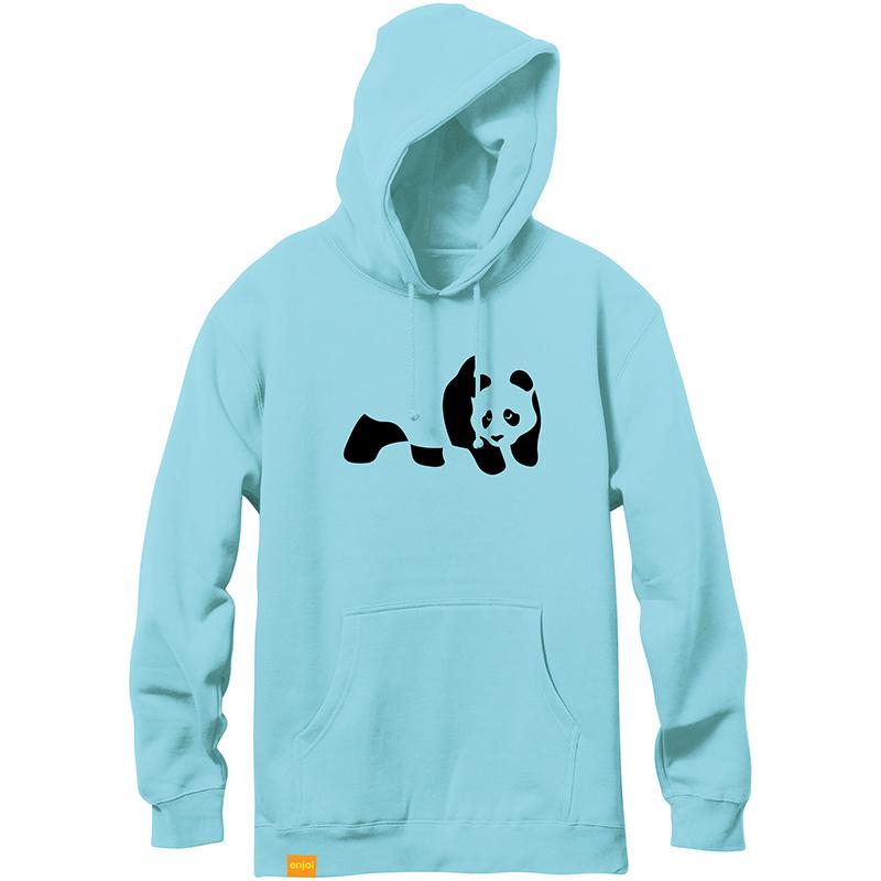 enjoi Panda Flocking Hoodie Mint