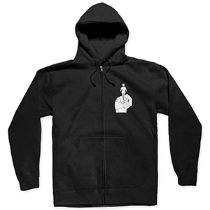Girl Bird Zip Hoodie Black