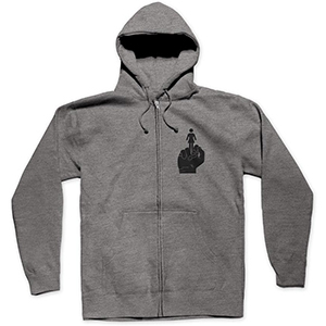 Girl Bird Zip Hoodie Gunmetal Heather