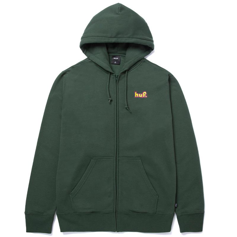 HUF 1993 Full Zip Hoodie Dark Green