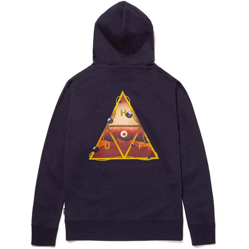 HUF Altered State Triple Triangle Hoodie Navy