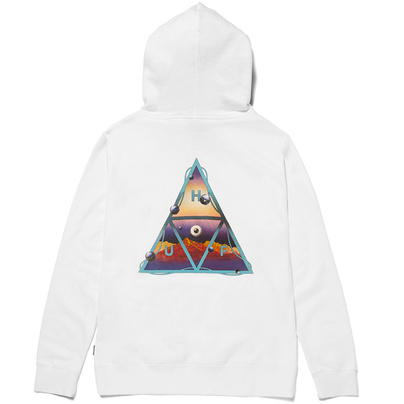HUF Altered State Triple Triangle Hoodie White