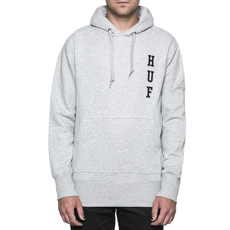 Huf Emb Hoodie Fleece Grey Heather