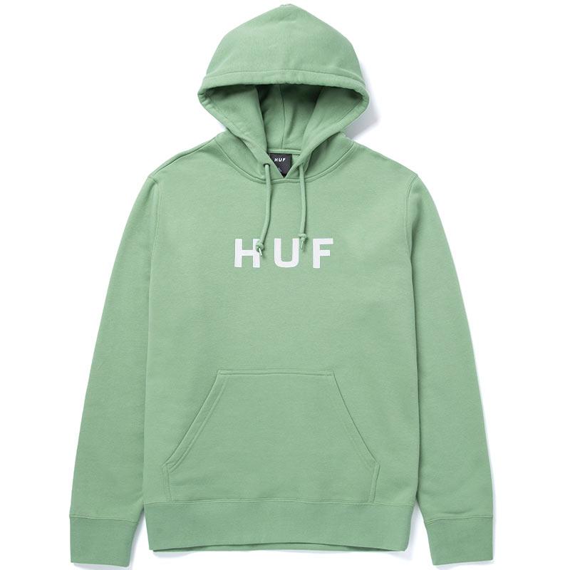 HUF Essentials Og Logo Hoodie Basil