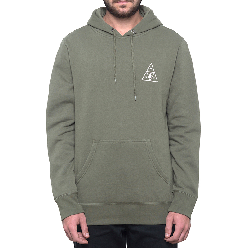 HUF Memorial Triangle Hoodie Deep Olive