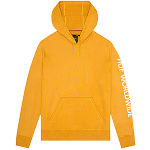 HUF Mission Hoodie Mineral Yellow