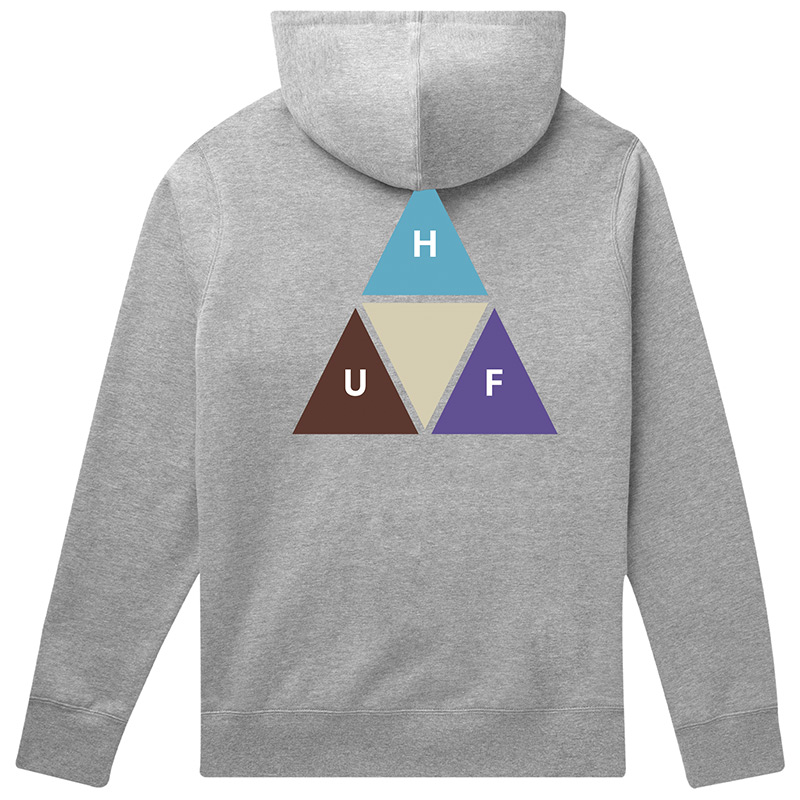 HUF Prism Trail Hoodie Grey Heather