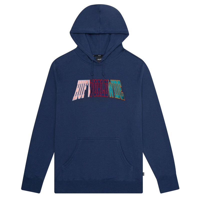 HUF Suspension Arched Hoodie Insignia Blue
