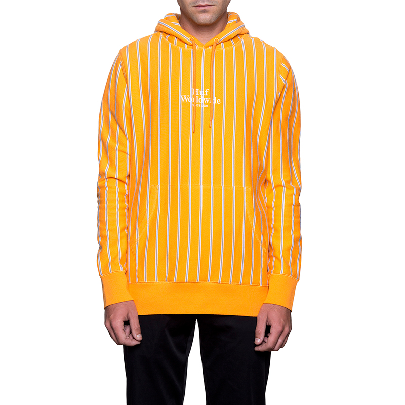 HUF Sutter Stripe Pullover Hoodie Cantaloupe