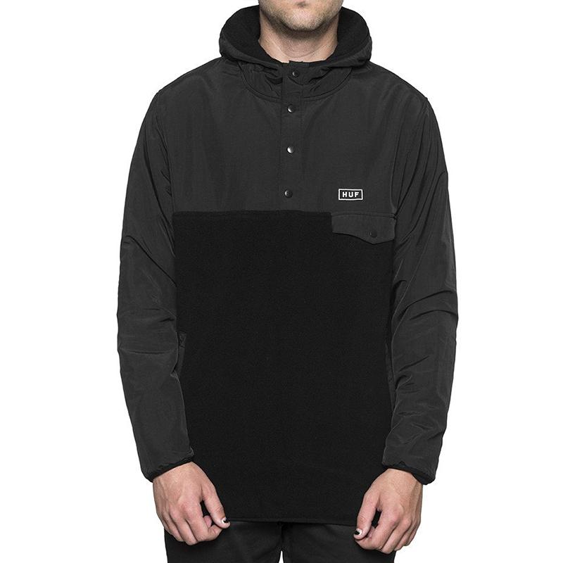 HUF Tofino Hooded Polar Pullover Black