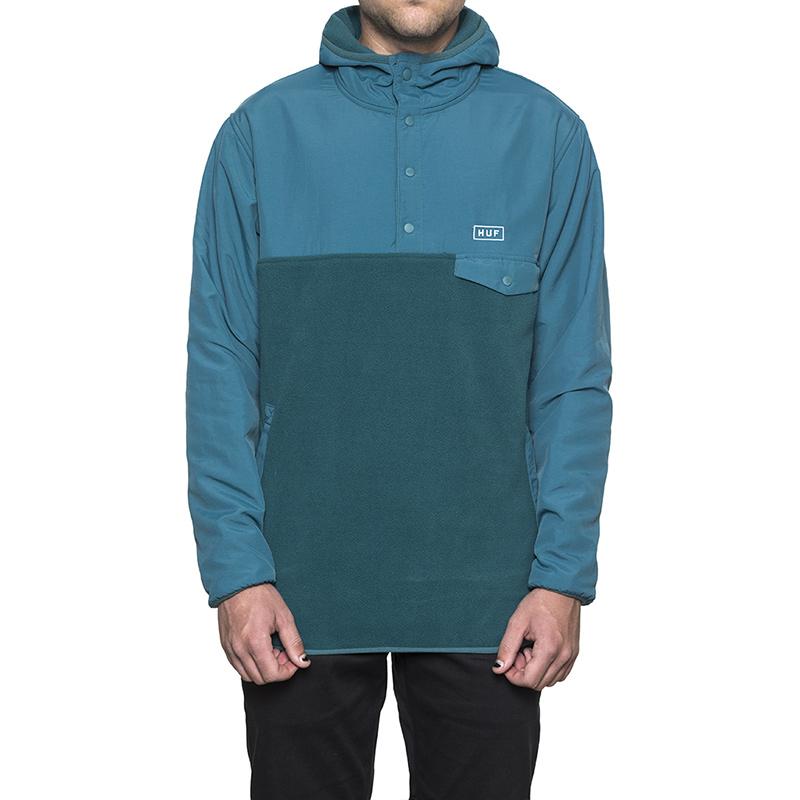 HUF Tofino Hooded Polar Pullover Jade