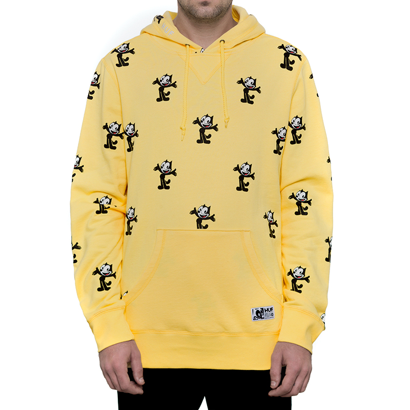 HUF X Felix The Cat Allover Print Hoodie Banana