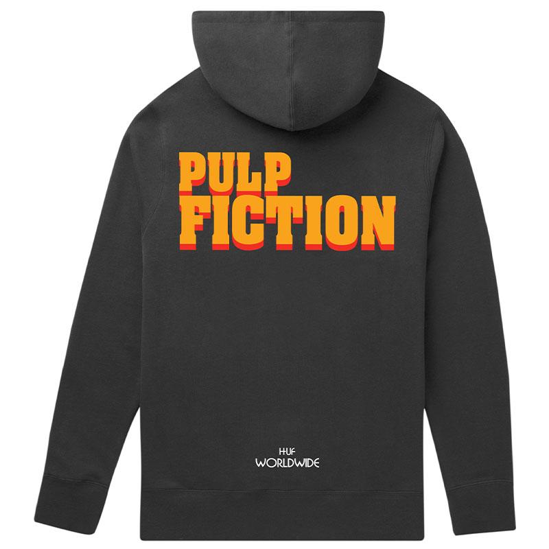 HUF X Pulp Fiction Burger Hoodie Black