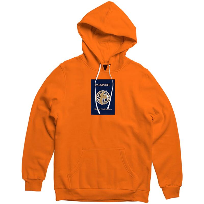 Illegal Civilization Passport Hoodie Orange