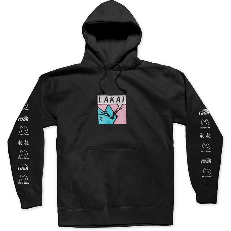 Lakai x Leon Karssen Box Cat Embroidered Hoodie Black