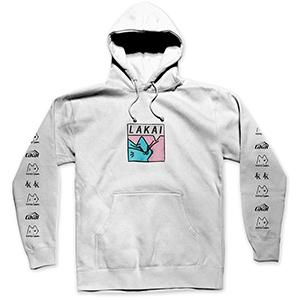 Lakai x Leon Karssen Box Cat Embroidered Hoodie White