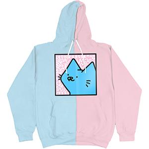 Leon Karssen P&B Boxcat Hoodie Light Pink/Light Blue